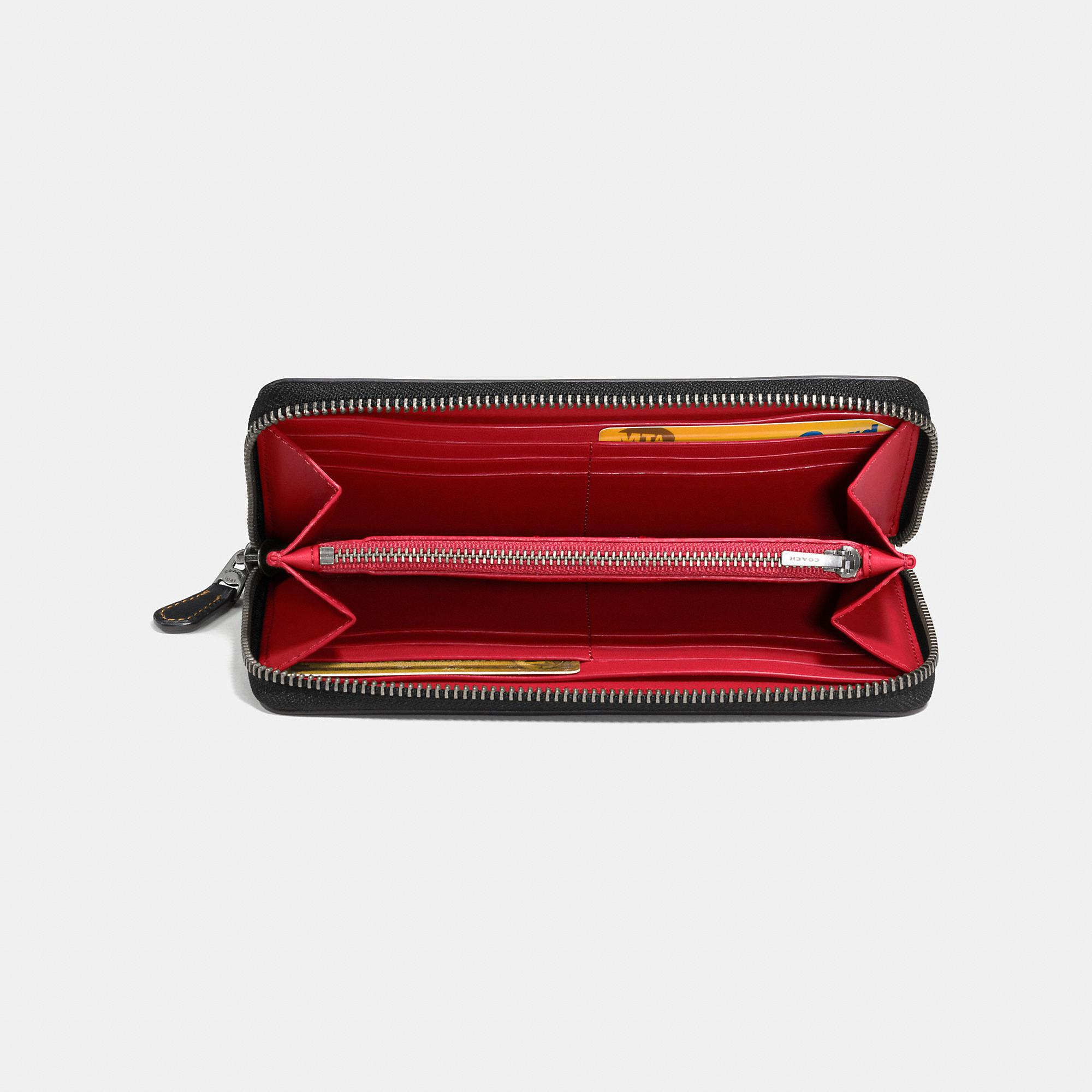 4ea2e71b16 Lyst - COACH Accordion Zip Wallet In Glovetanned Leather With Car ...