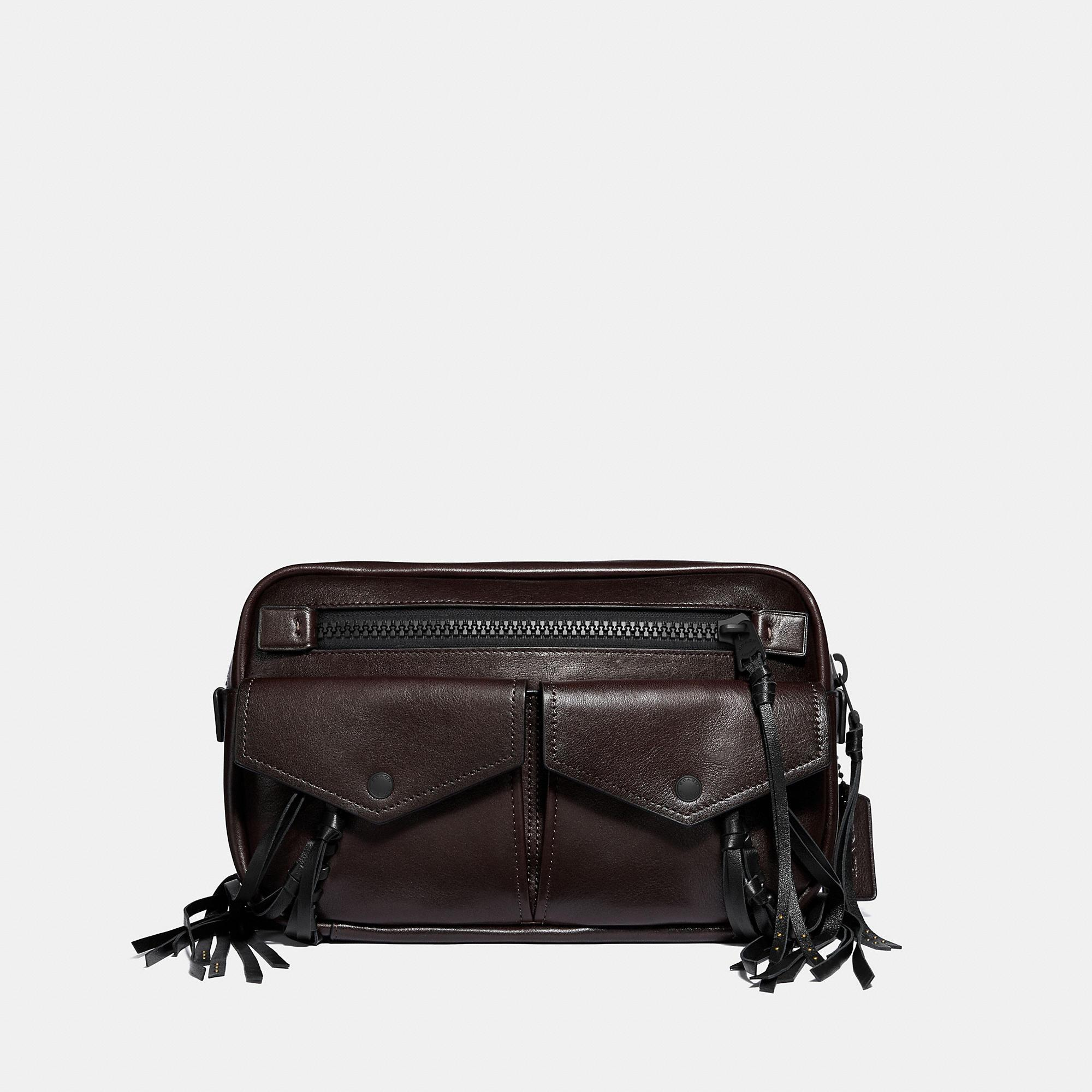 e5714e4250 Lyst - COACH Utility Belt Bag 25 With Whipstitch in Black for Men