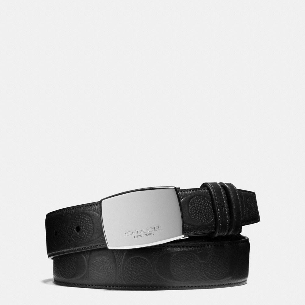 30765f563cd6 Lyst - COACH Dress Plaque Cut-to-size Reversible Belt In Signature ...