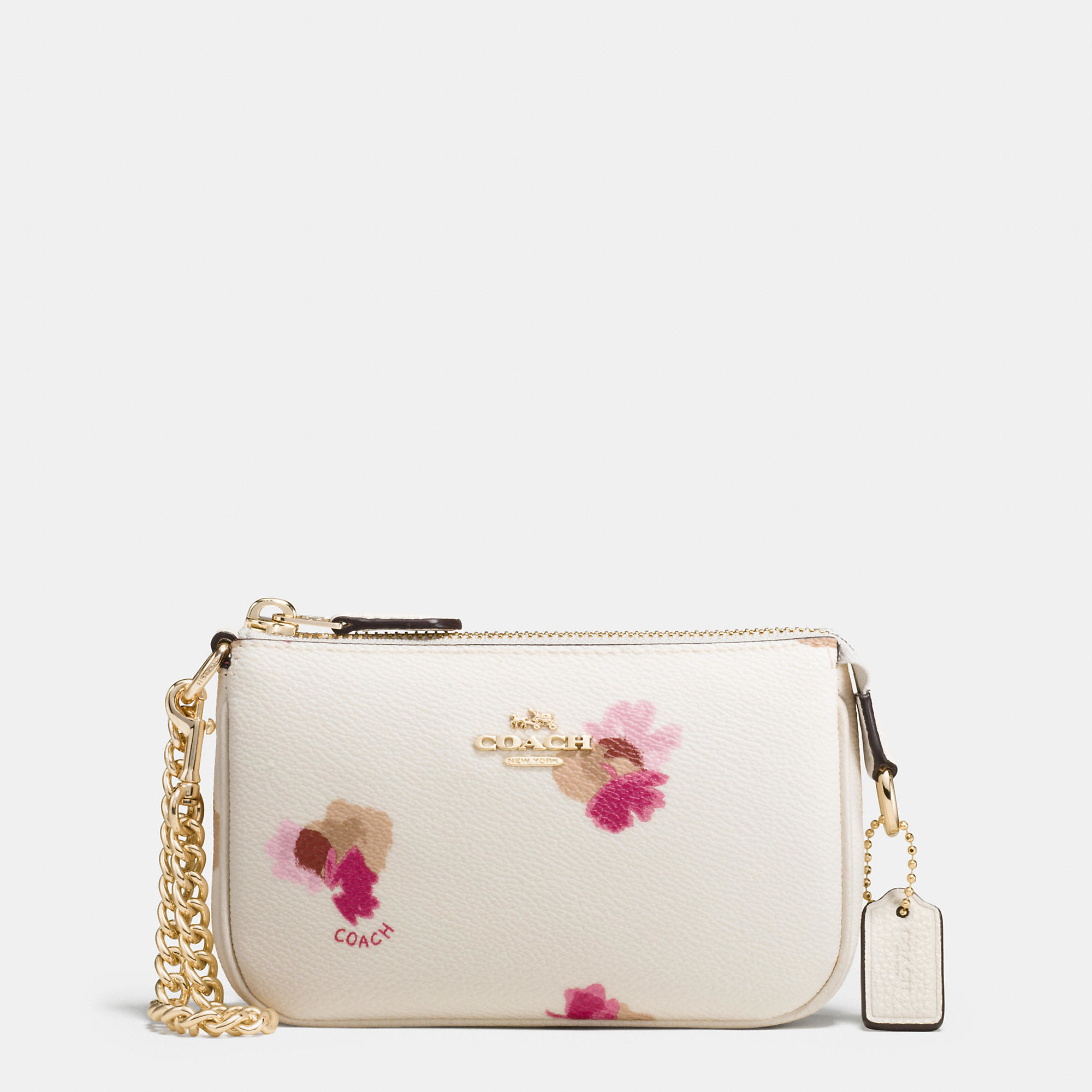 Lyst coach nolita wristlet 15 in floral print coated canvas in white gallery mightylinksfo