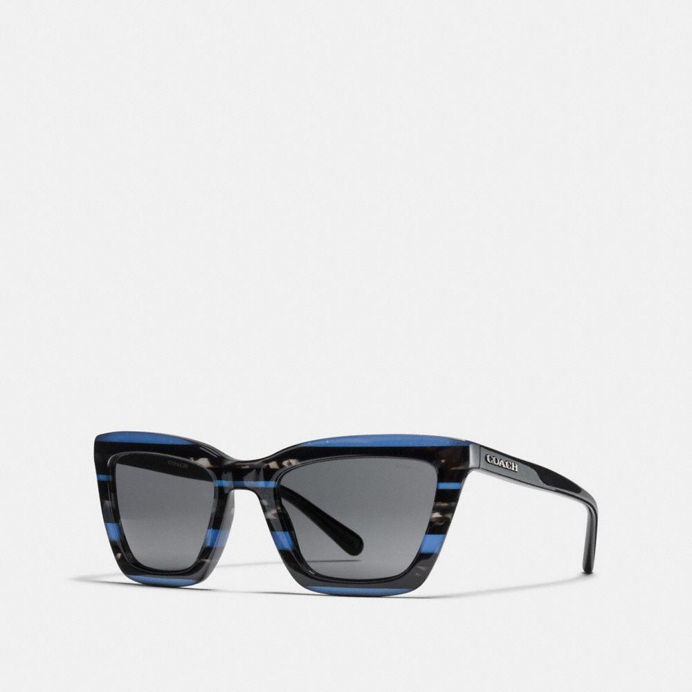 f3338f7dd7 COACH - Blue Varsity Rectangle Sunglasses - Lyst. View fullscreen