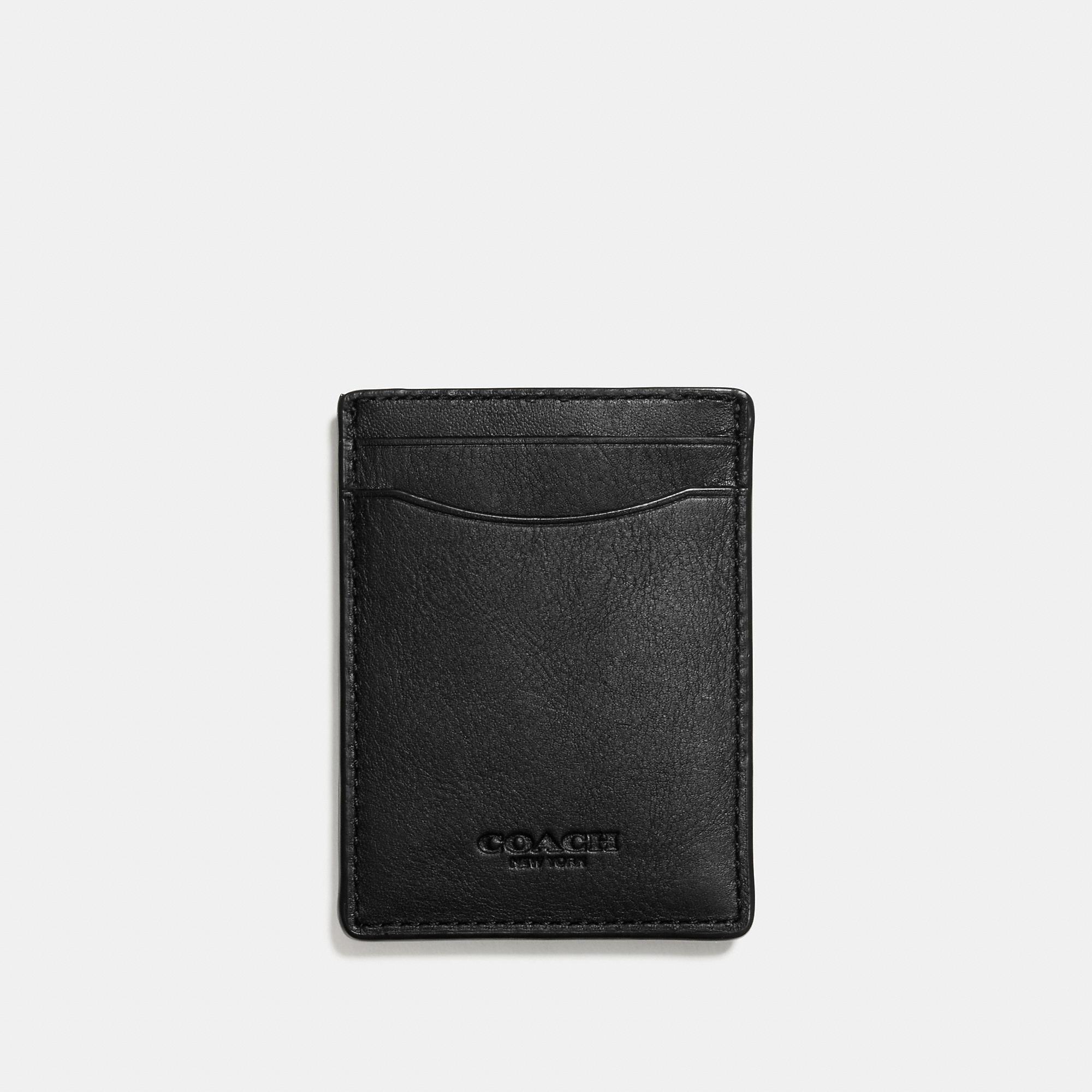 aef1c15cd0809 Lyst - COACH 3-in-1 Card Case In Sport Calf Leather in Black for Men