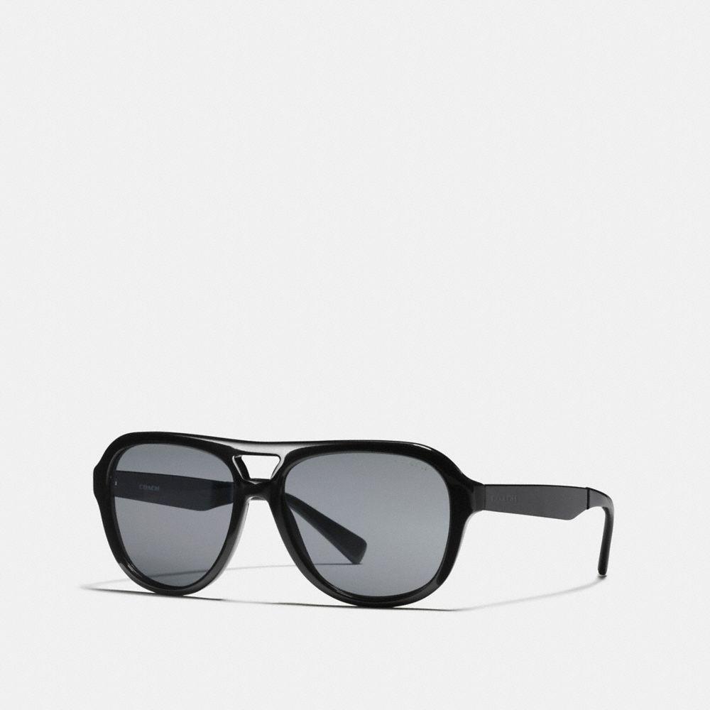 49908a438825 ... real coach james pilot sunglasses in black for men lyst f6f4d ffa78