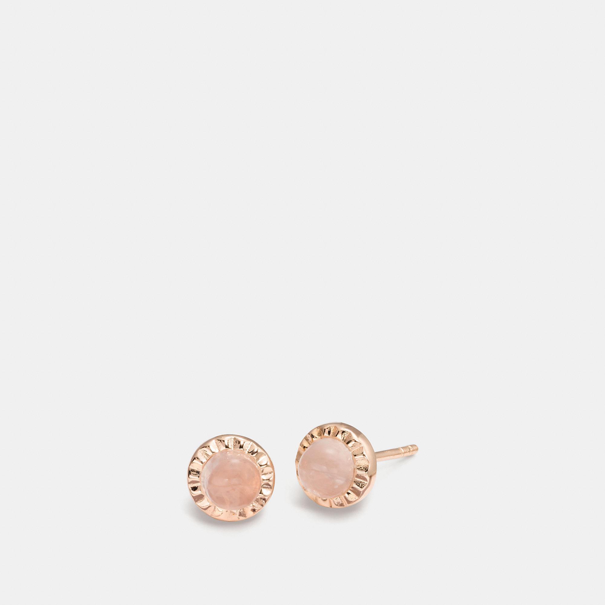 Coach Women S Pink Demi Fine Sunburst Stone Earrings
