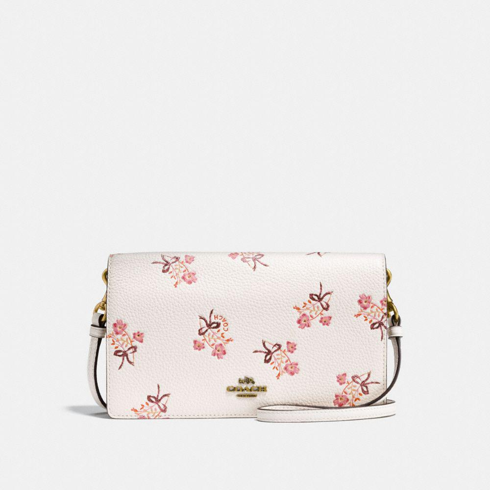 COACH Foldover Crossbody Clutch With Floral Bow Print - Lyst 7d3f3f7949011