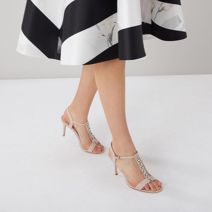 Embellished Heel Shoes - Blush Coast nXbuvMc3kN