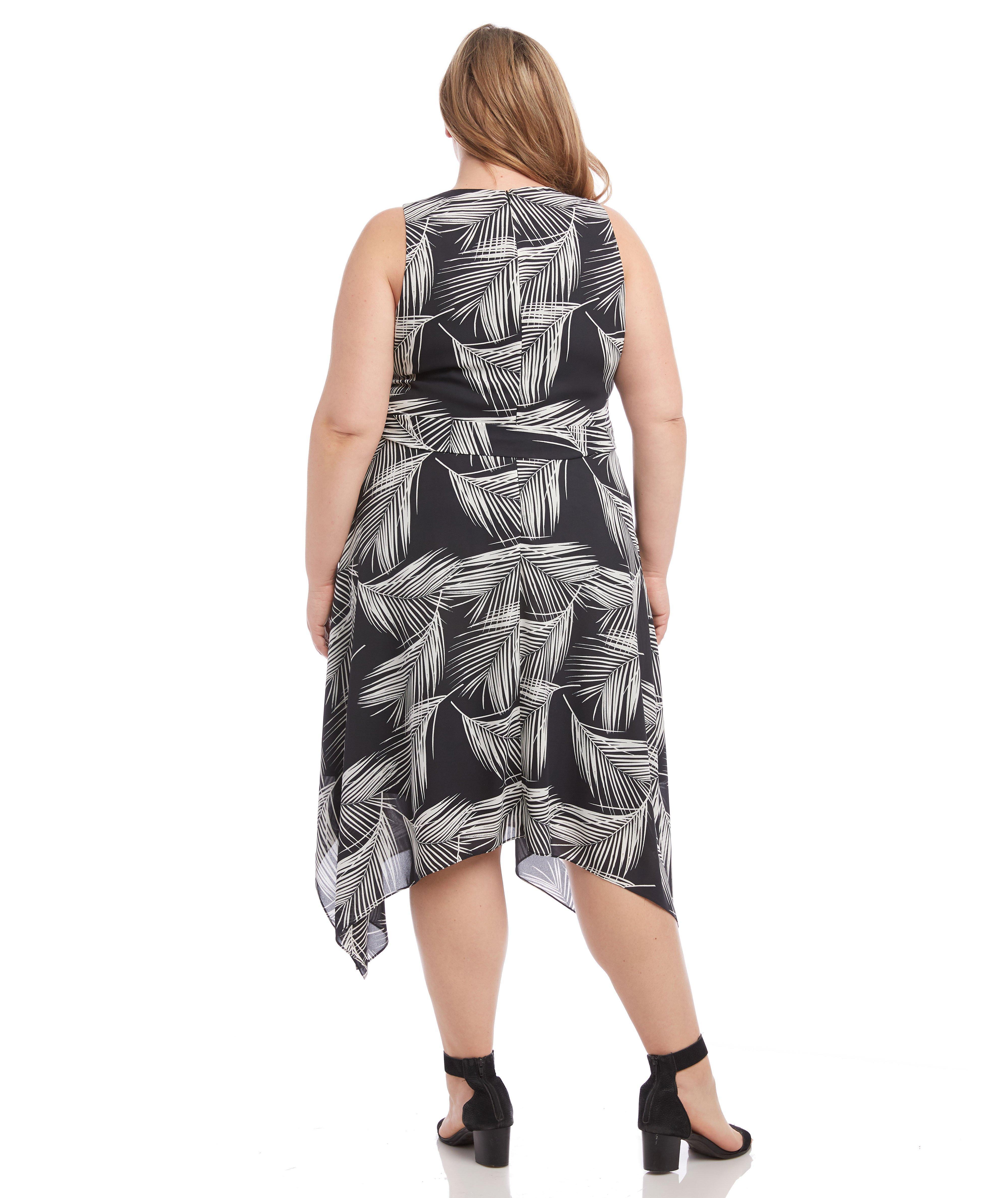 e20a8e1ddf1 Lyst - Karen Kane Handkerchief Hem Dress in Black