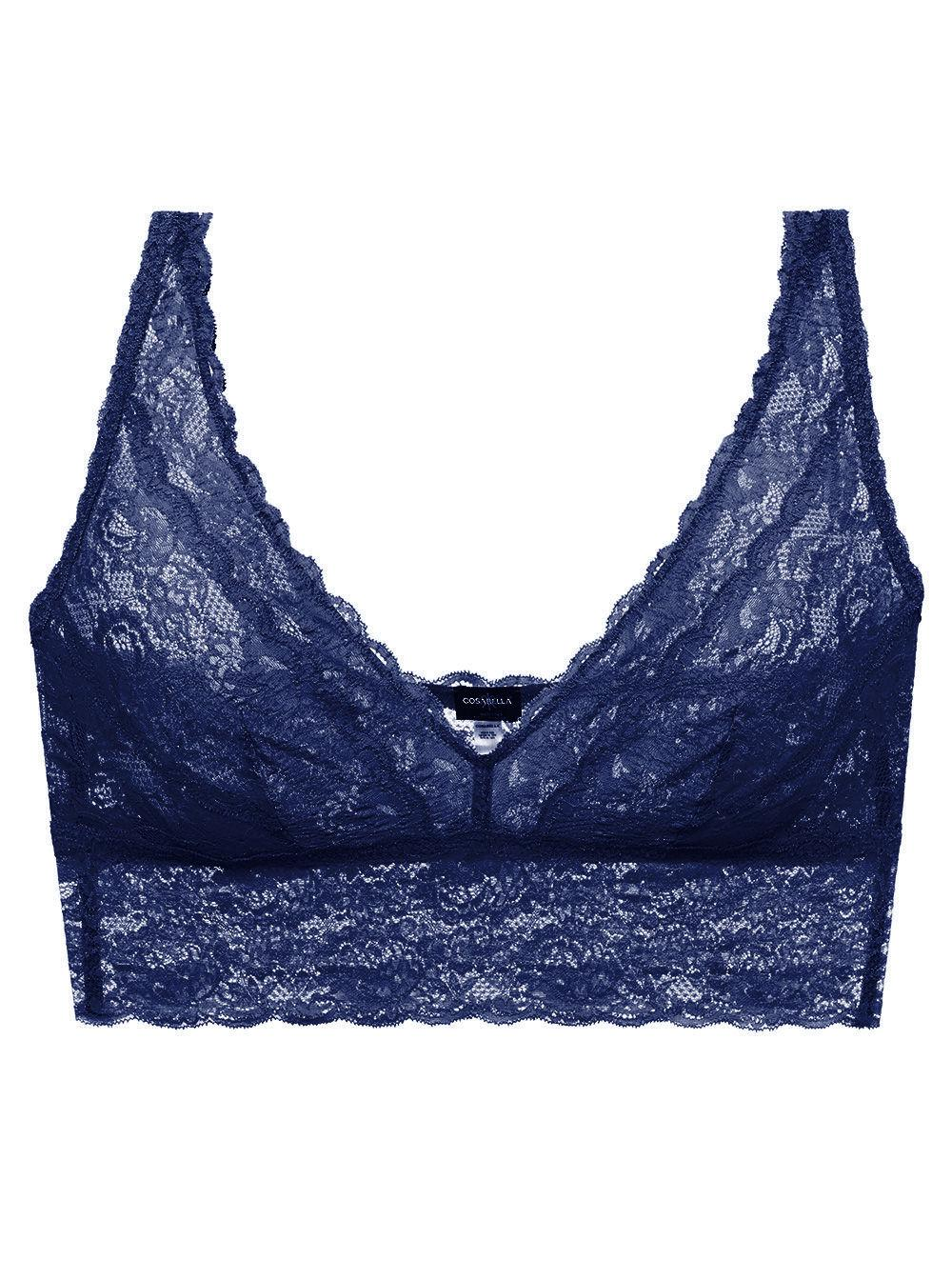 aaf3defa2b Lyst - Cosabella Never Say Never Plungie Longline Bralette in Blue