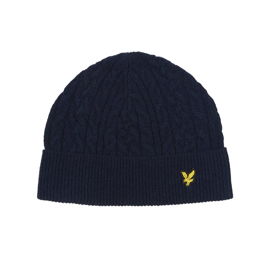a6b77f5f52b Lyle   Scott Cable Knit Beanie Hat in Blue for Men - Save ...