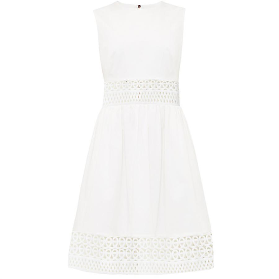 0a0ff055122c Lyst - Ted Baker Dayzey A-line Lace Panel Dress in White