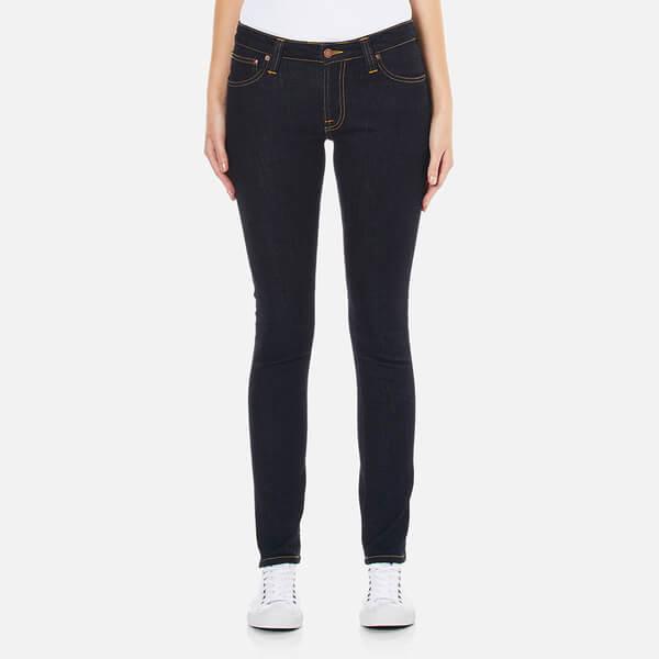 Nudie Jeans Womenu0026#39;s Skinny Lin Jeans In Blue   Lyst