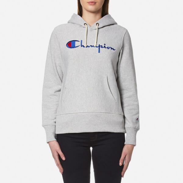 Lyst - Champion Womenu0026#39;s Hooded Sweatshirt In Gray