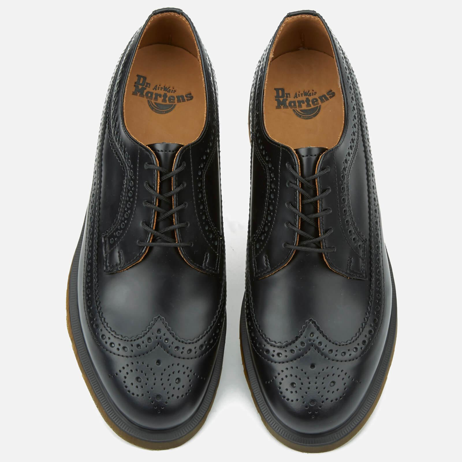 2bb04f9cf2 Dr. Martens 3989 Pw Smooth Leather Wingtip Brogues in Black for Men ...