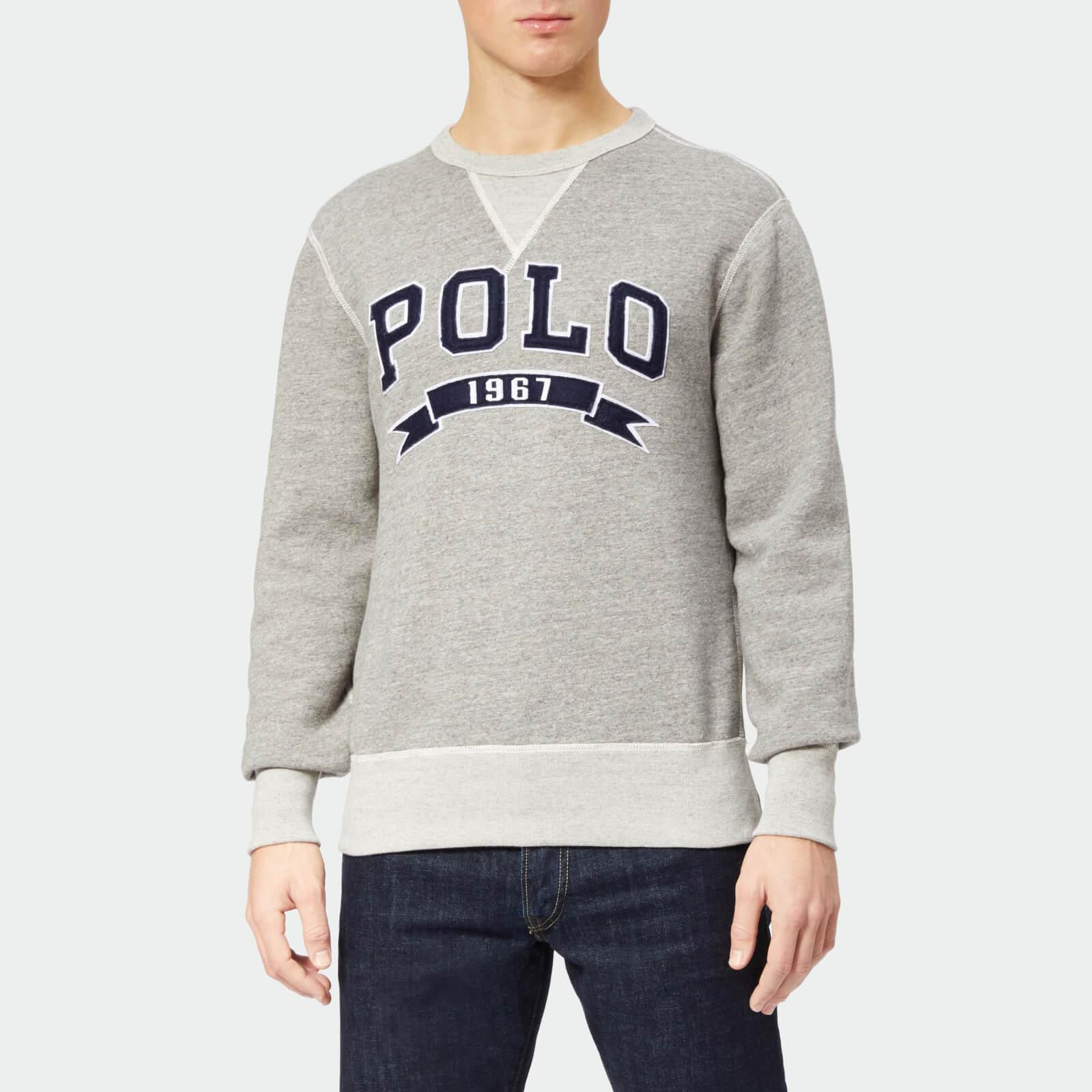 a94299f4a Polo Ralph Lauren - Gray Large Polo Crew Neck Sweatshirt for Men - Lyst.  View fullscreen