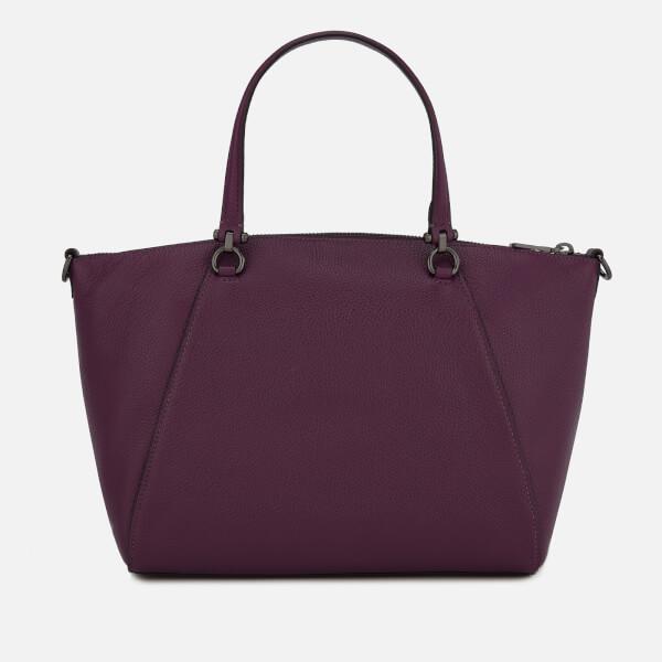 Leather Púrpura pulida Coach Bag Prairie Pebbled Lyst Satchel FR6nq