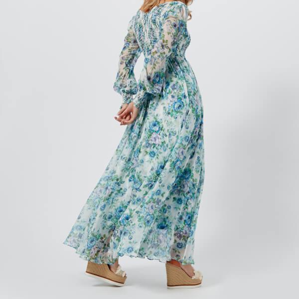 ad8c528ca6d Lyst - Zimmermann Women s Breeze Shirred Dress in Blue