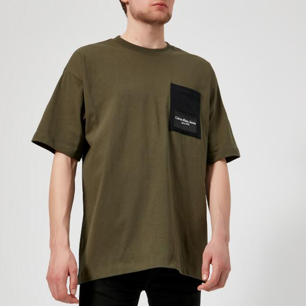 9989d6926028 Calvin Klein Men's Boreos 2 Relaxed Fit Crew Neck Tshirt in Green ...