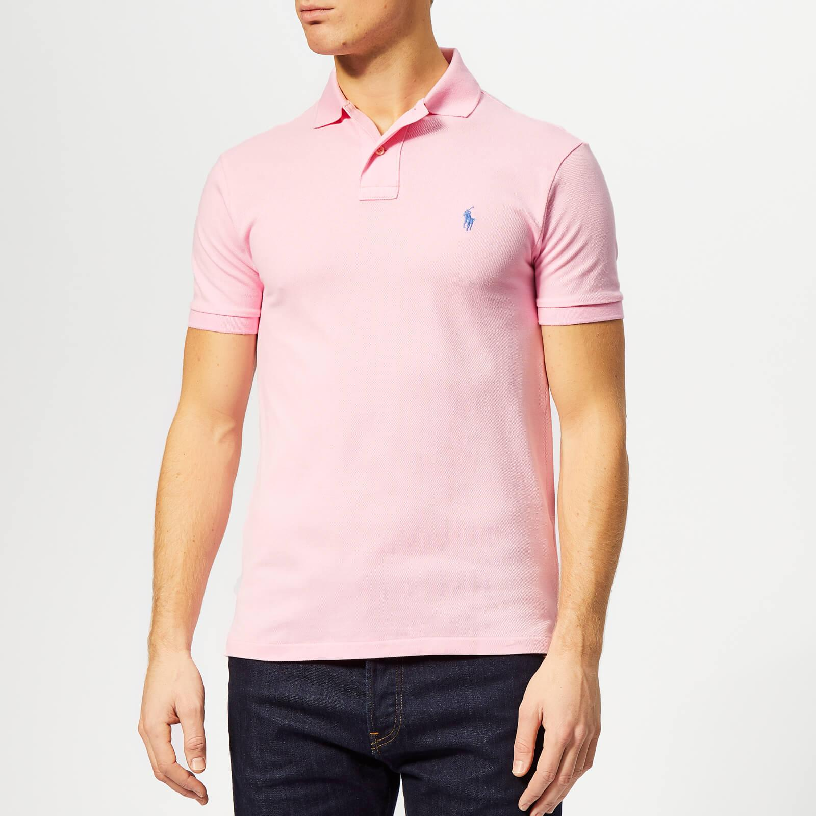 d67512bee Polo Ralph Lauren Basic Pique Slim Fit Polo-shirt in Pink for Men ...