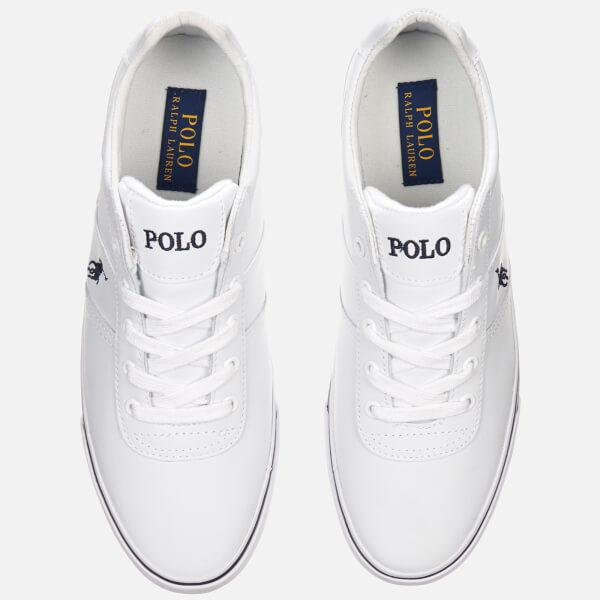 Lyst - Polo Ralph Lauren Men s Hanford Leather Trainers in White for Men ad66ac04c07