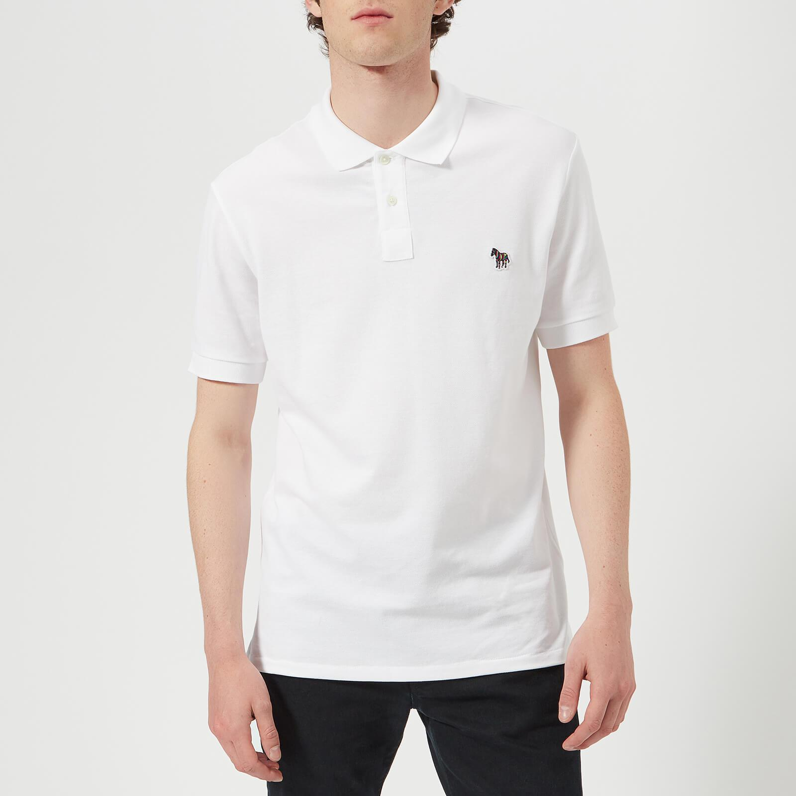 31b9768893ab29 Lyst - PS by Paul Smith Regular Fit Zebra Polo Shirt in White for Men
