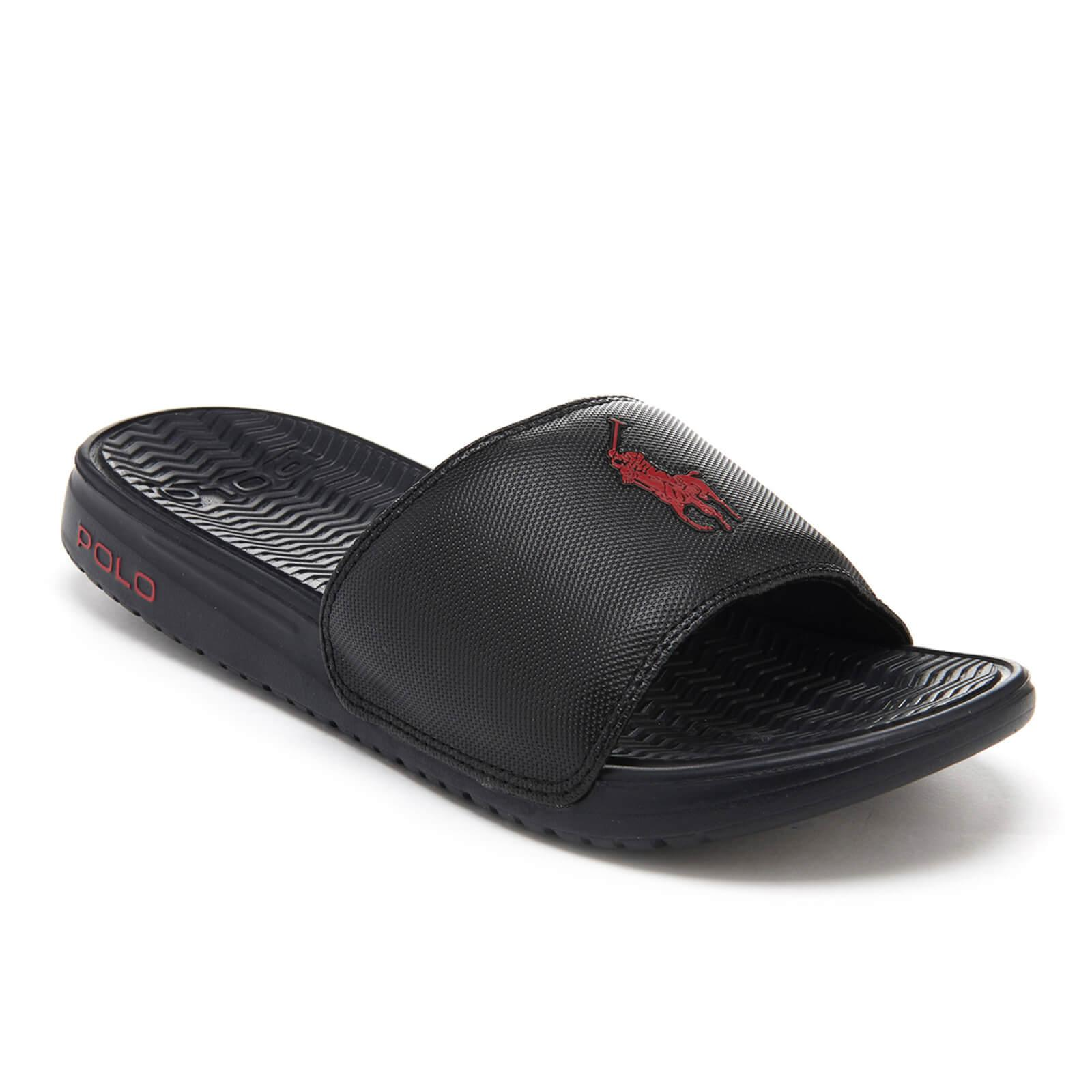 c007e0704a60 Polo Ralph Lauren - Black Rodwell Slide Sandals for Men - Lyst. View  fullscreen