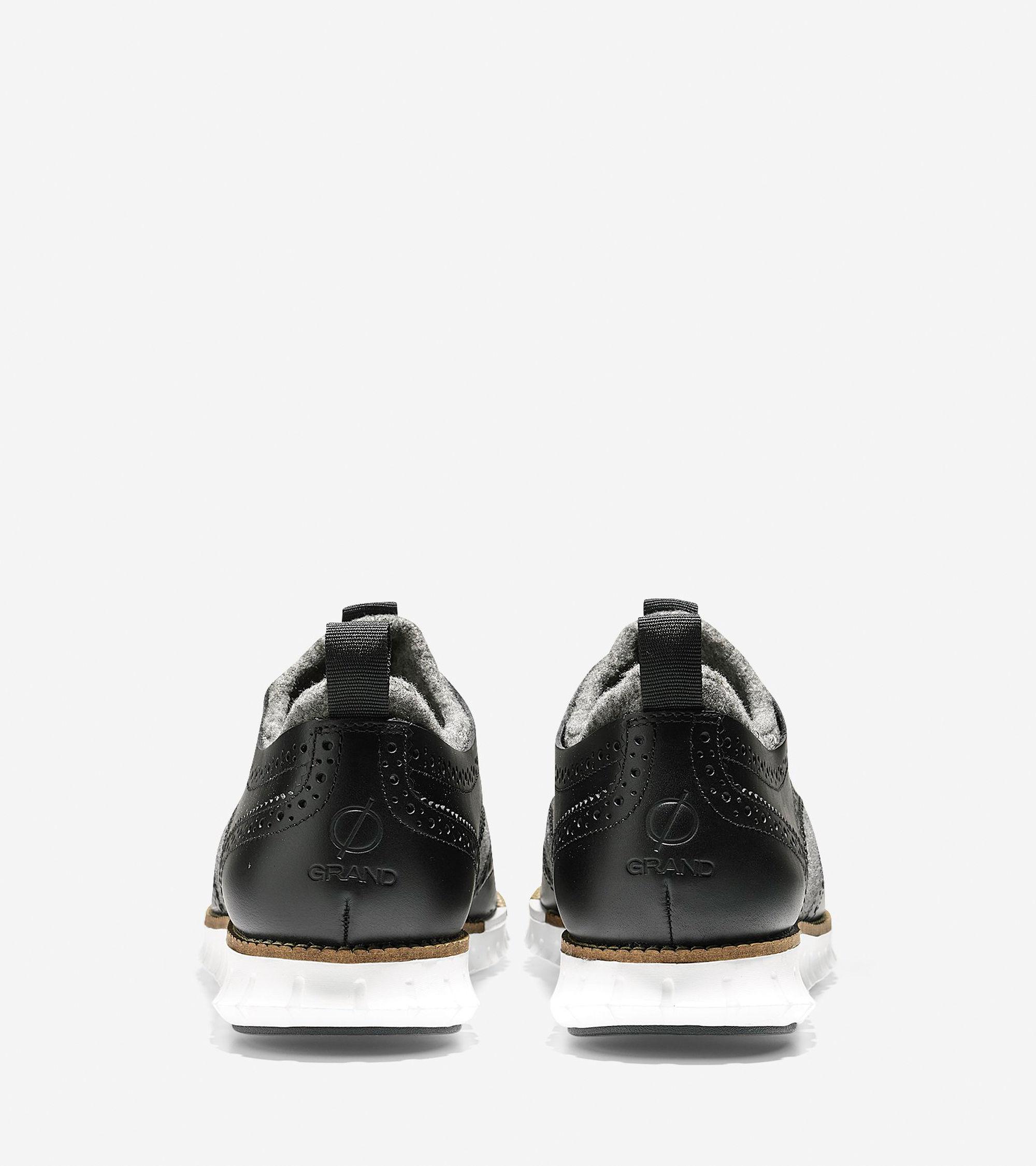3b24434242e Lyst - Cole Haan Men s Zerøgrand Neoprene Lined Wingtip Oxford in Black for  Men