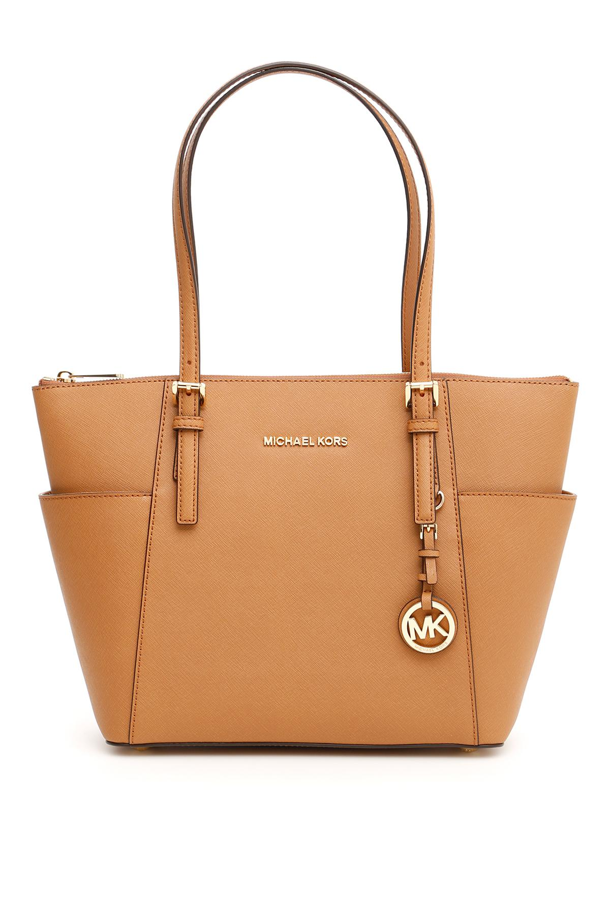 d497cfeaba72 Lyst - MICHAEL Michael Kors Jet Set Item Bag in Natural