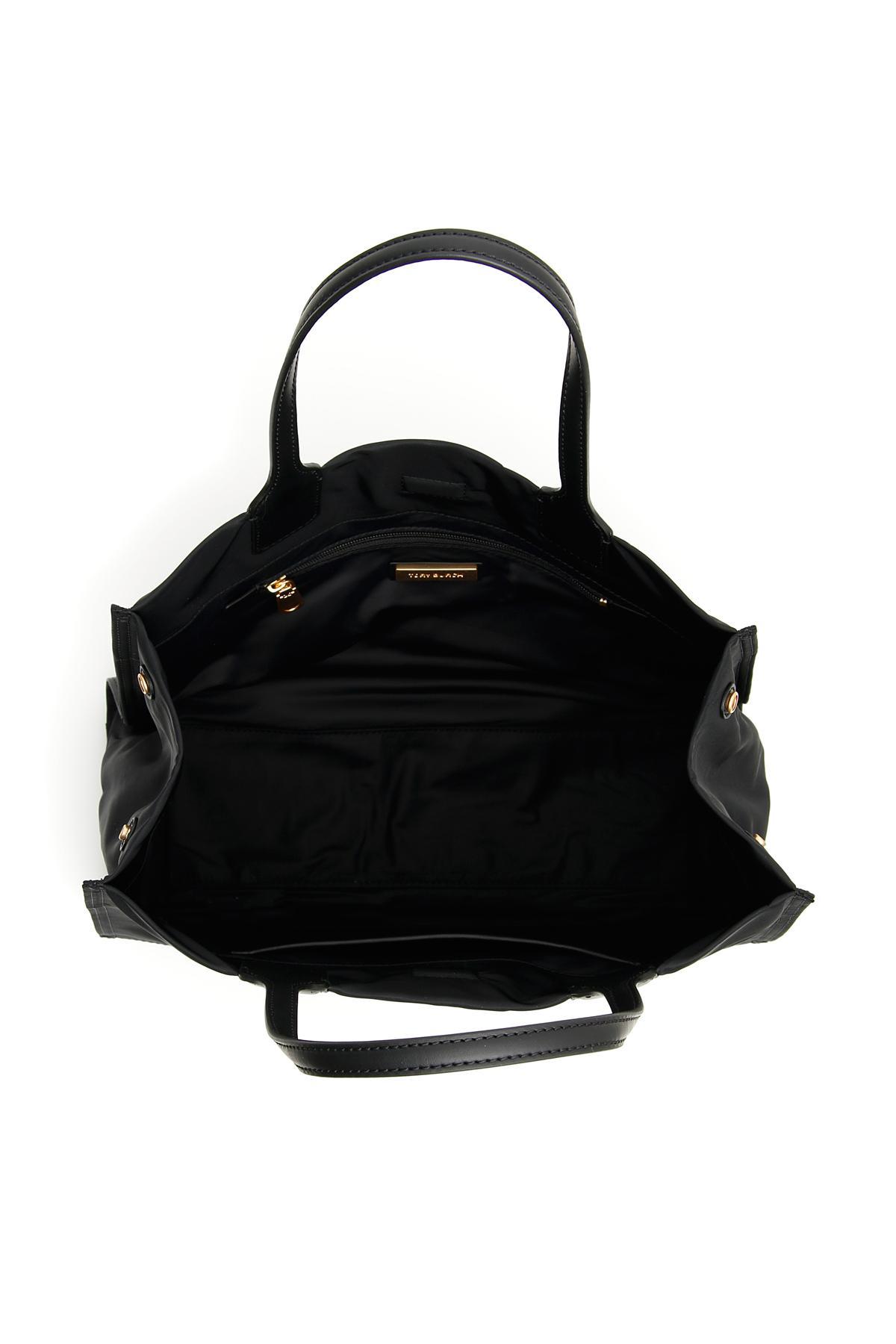 55869b1643d Tory Burch - Black Mini Ella Stud Shopper - Lyst. View fullscreen