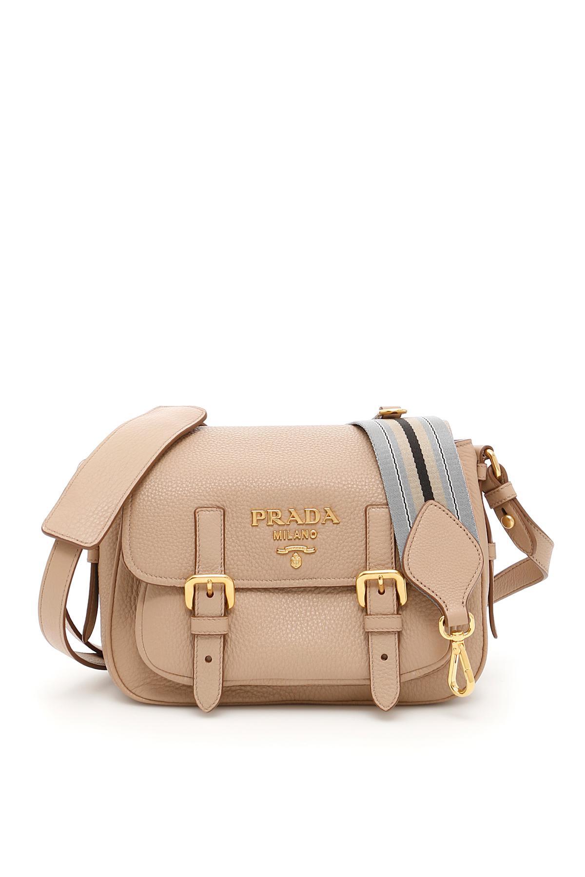 bd7bce87f3aa Prada Deer-print Leather Bag in Natural - Lyst