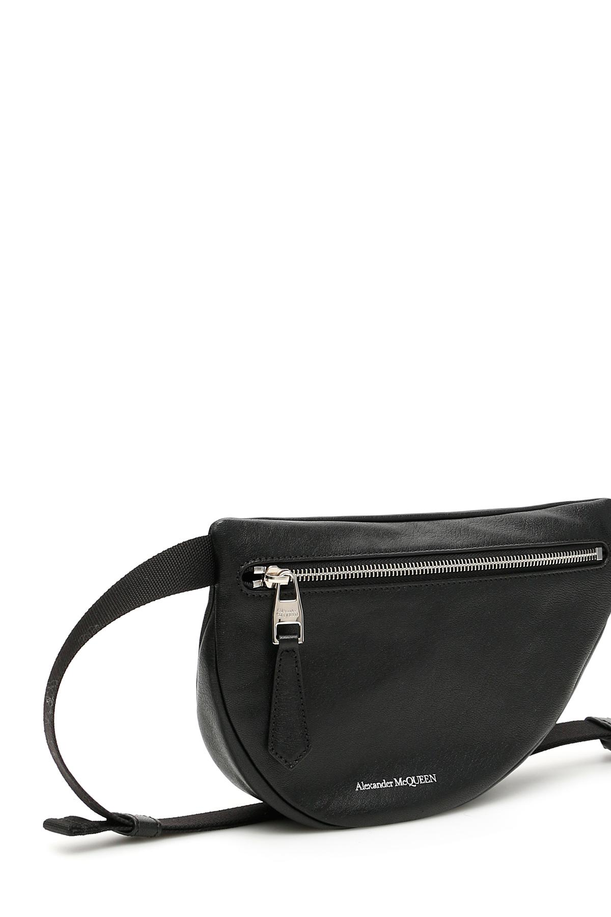 034f7a5a Alexander McQueen - Black Asymmetric Beltbag for Men - Lyst. View fullscreen
