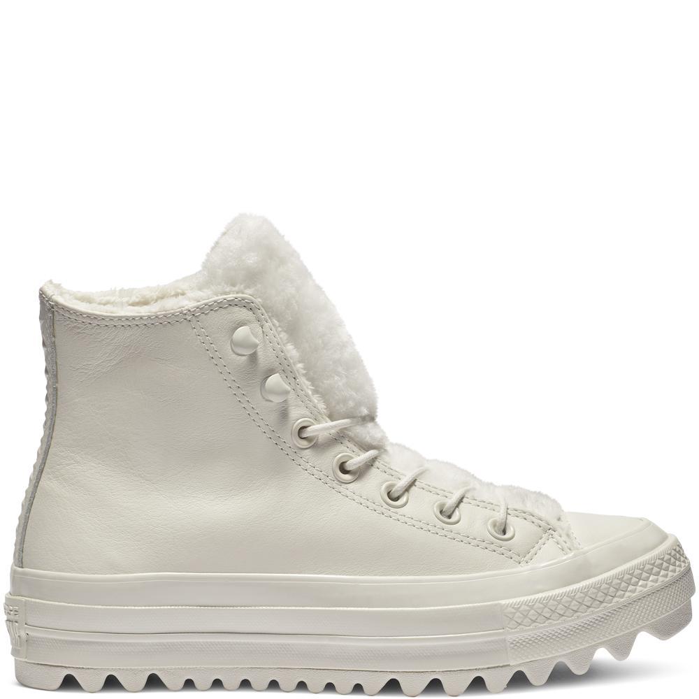 3fe1851c59f06e Converse. Women s White Chuck Taylor All Star Street Warmer Ripple High Top