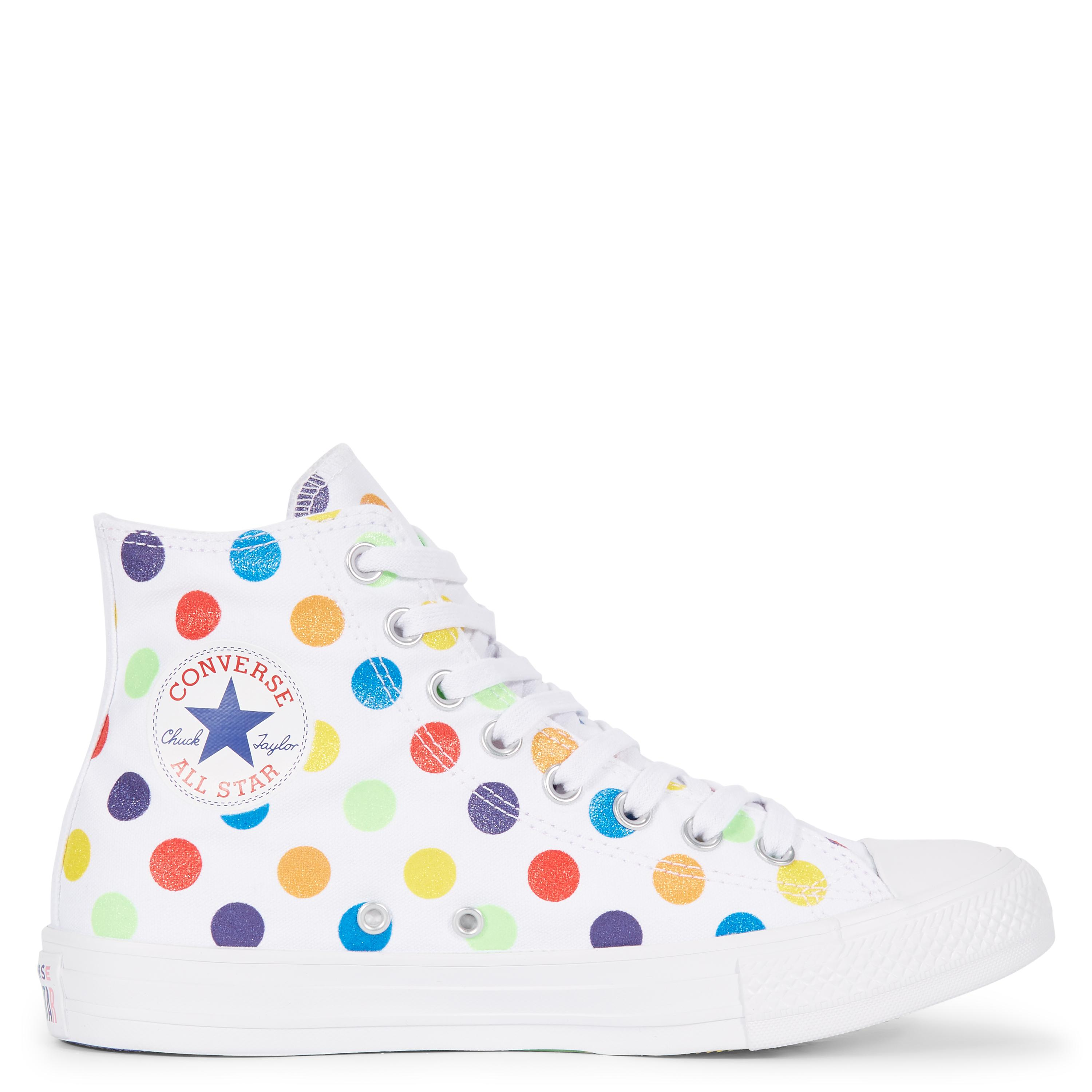 2fbe9eb58534 Converse Pride X Miley Cyrus Chuck Taylor All Star High Top in White ...