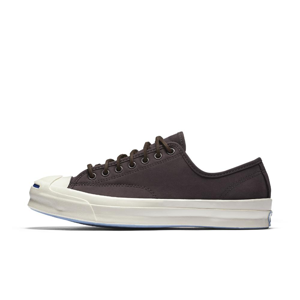 01a7a3726445 Lyst - Converse Jack Purcell Signature Nubuck Low Top Shoe in Brown ...