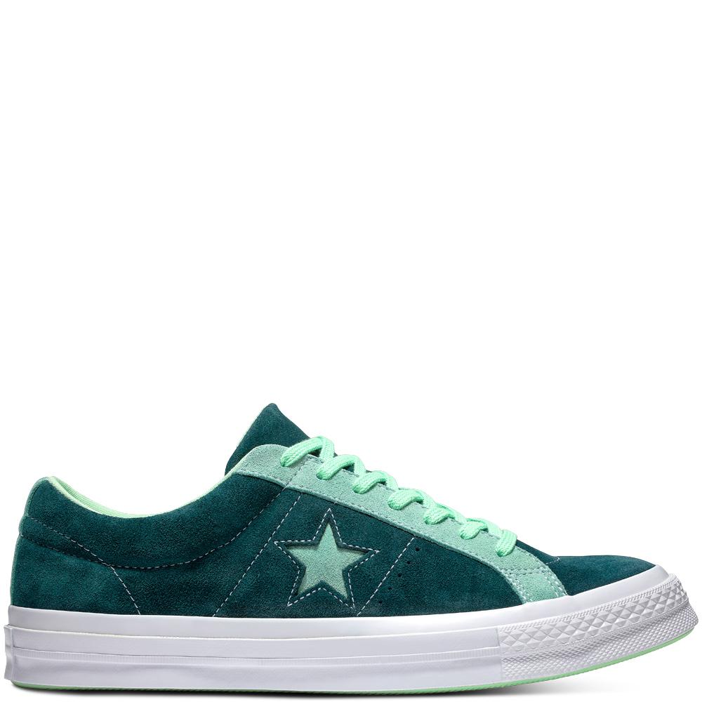 fbc3173bd0ec85 Converse One Star Carnival Suede Low Top in Green for Men - Lyst
