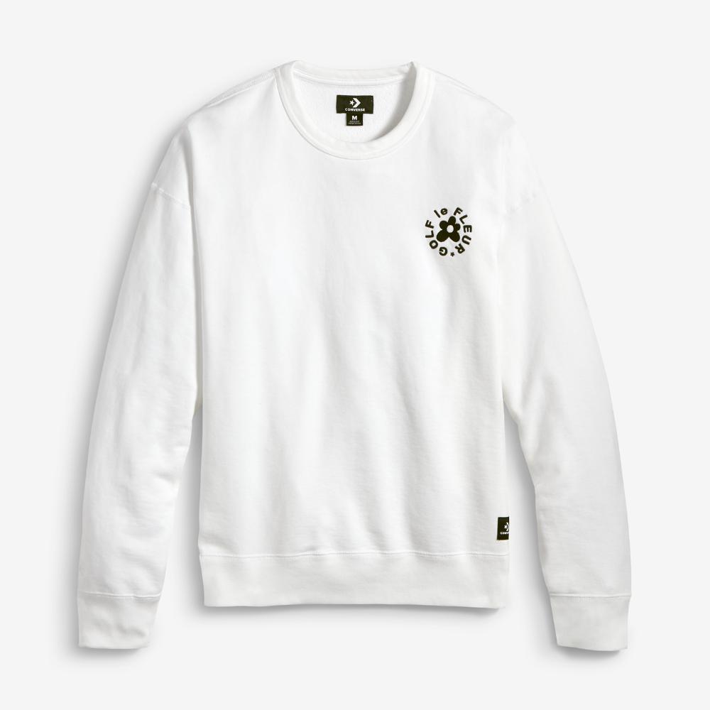 7186adeecb36 Lyst - Converse Golf Le Fleur  Crew Men s Sweatshirt in White for Men