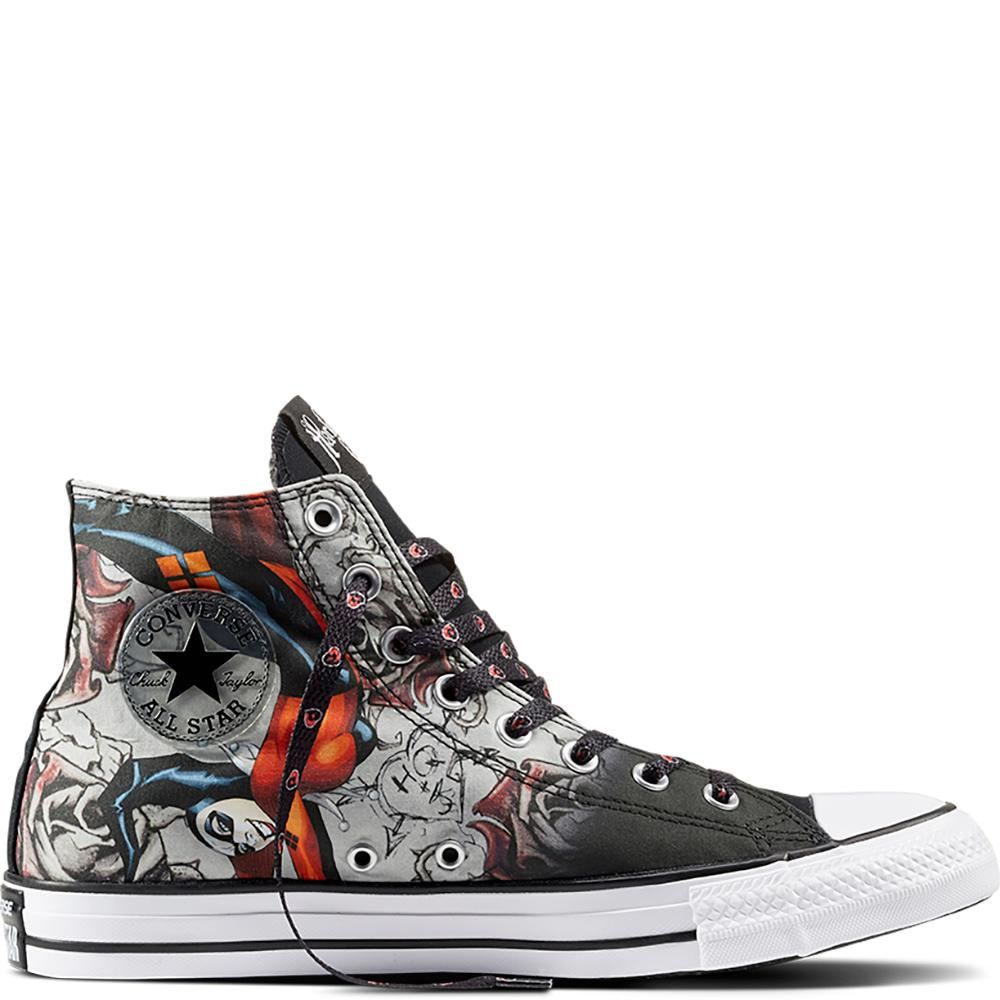 2268379d0726 Converse Chuck Taylor All Star Dc Comics Harley Quinn in Black for ...