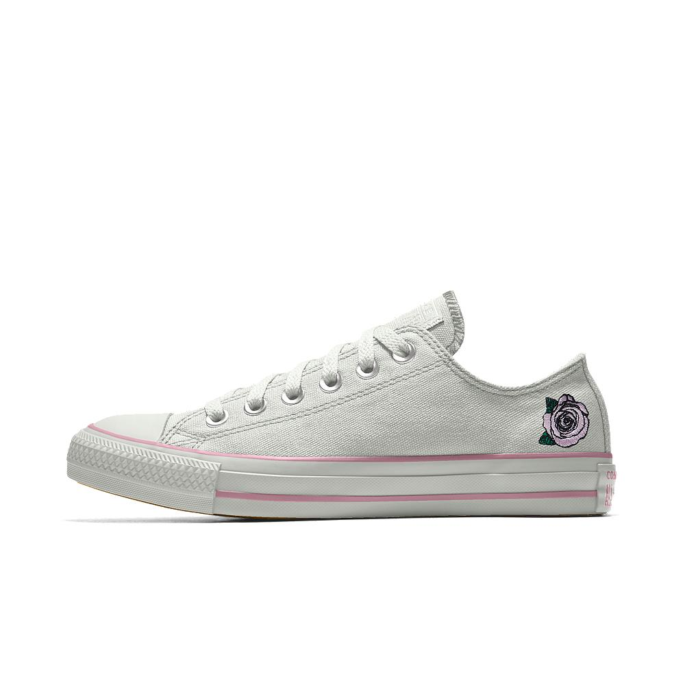 369d87cc4f88 Lyst - Converse Custom Chuck Taylor All Star Rose Embroidery Low Top ...