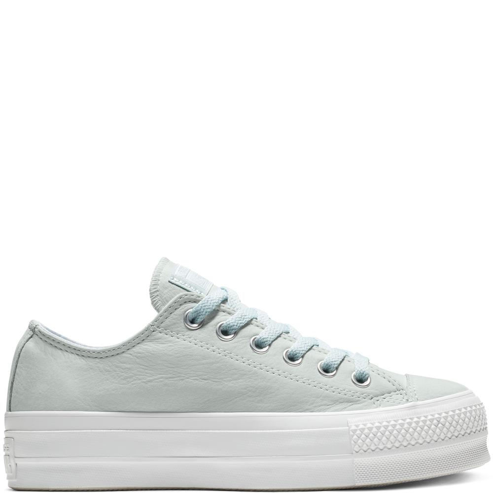 c0ffa76386105 Converse Chuck Taylor All Star Nubuck Lift Low Top in White - Lyst