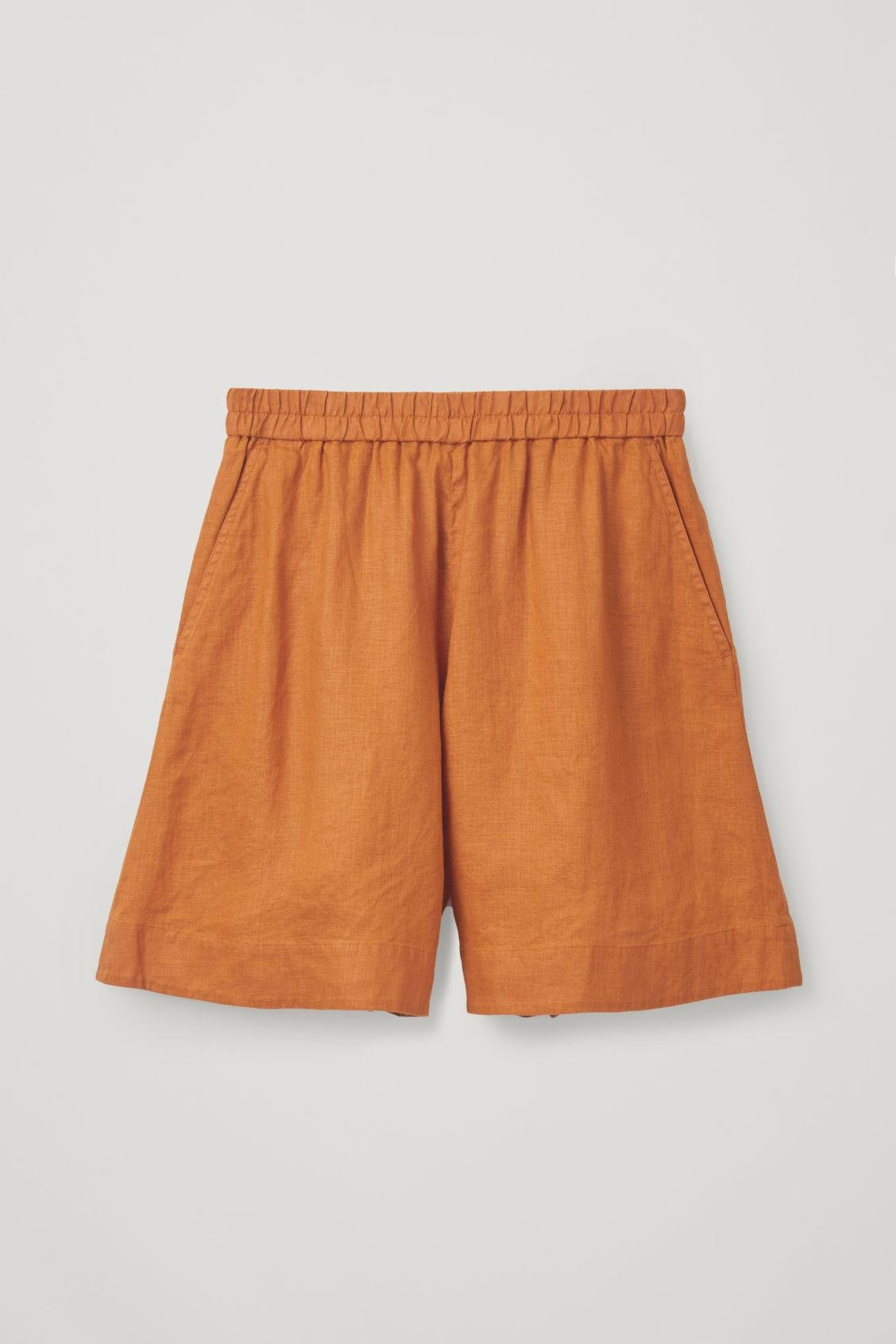 39991c8e74f4 Lyst - COS Lightweight Hemp Shorts in Yellow