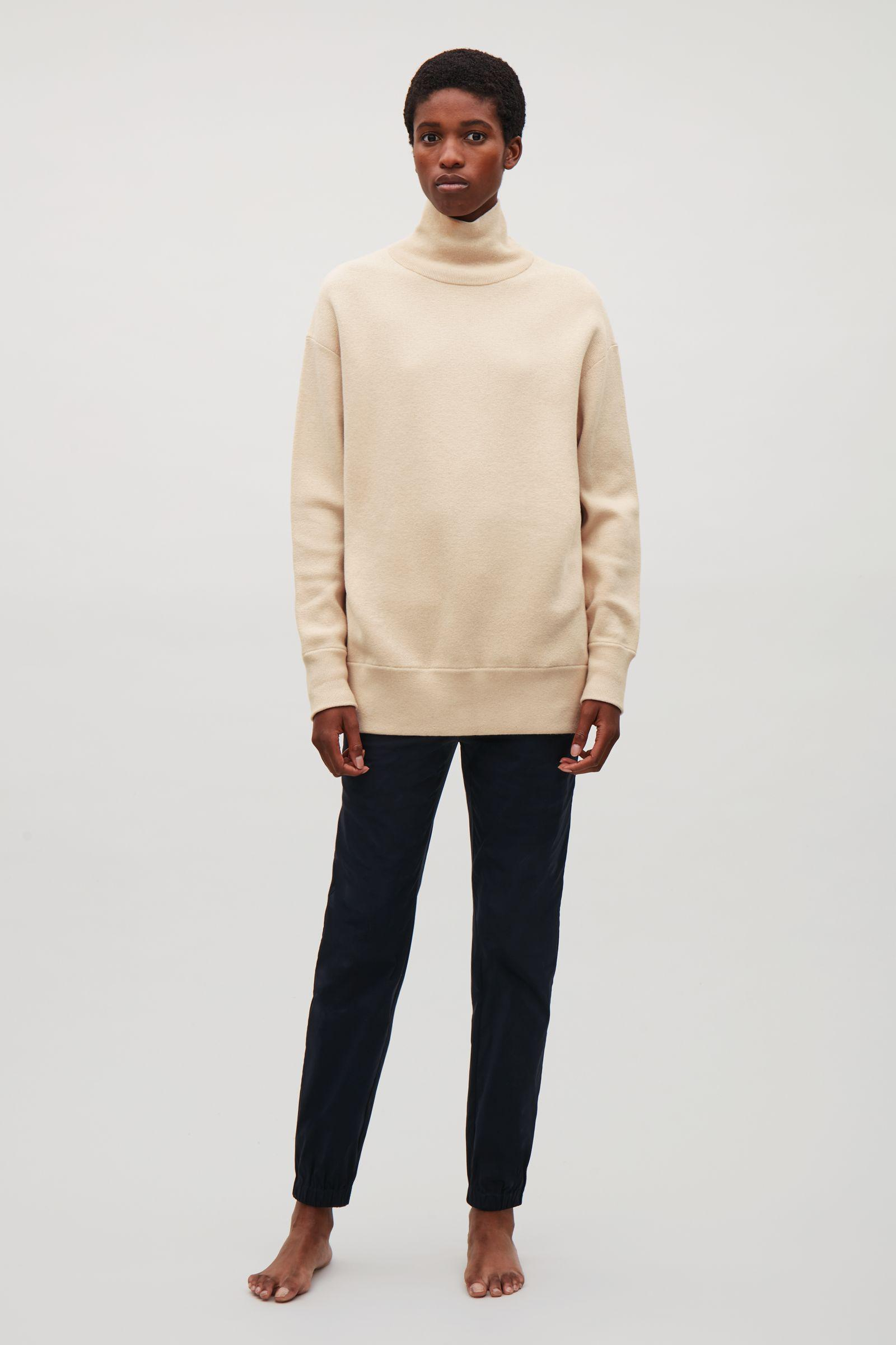 1559c35cf COS Oversized Milano Knit Jumper in Natural - Lyst