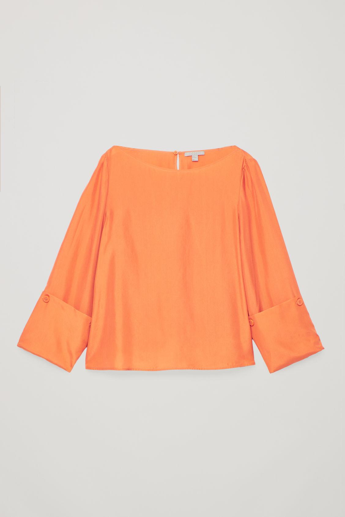 4ea9678cd16bc COS Changeable Silk Blouse in Orange - Lyst