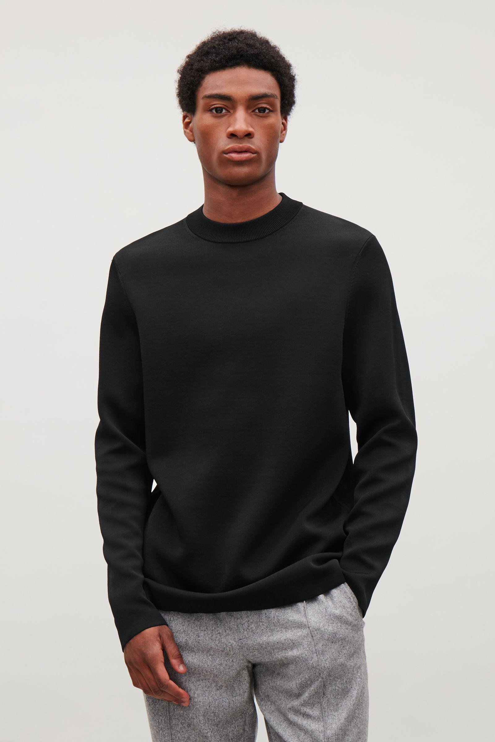 ebf82c15b244 COS Double-faced Jumper in Black for Men - Lyst