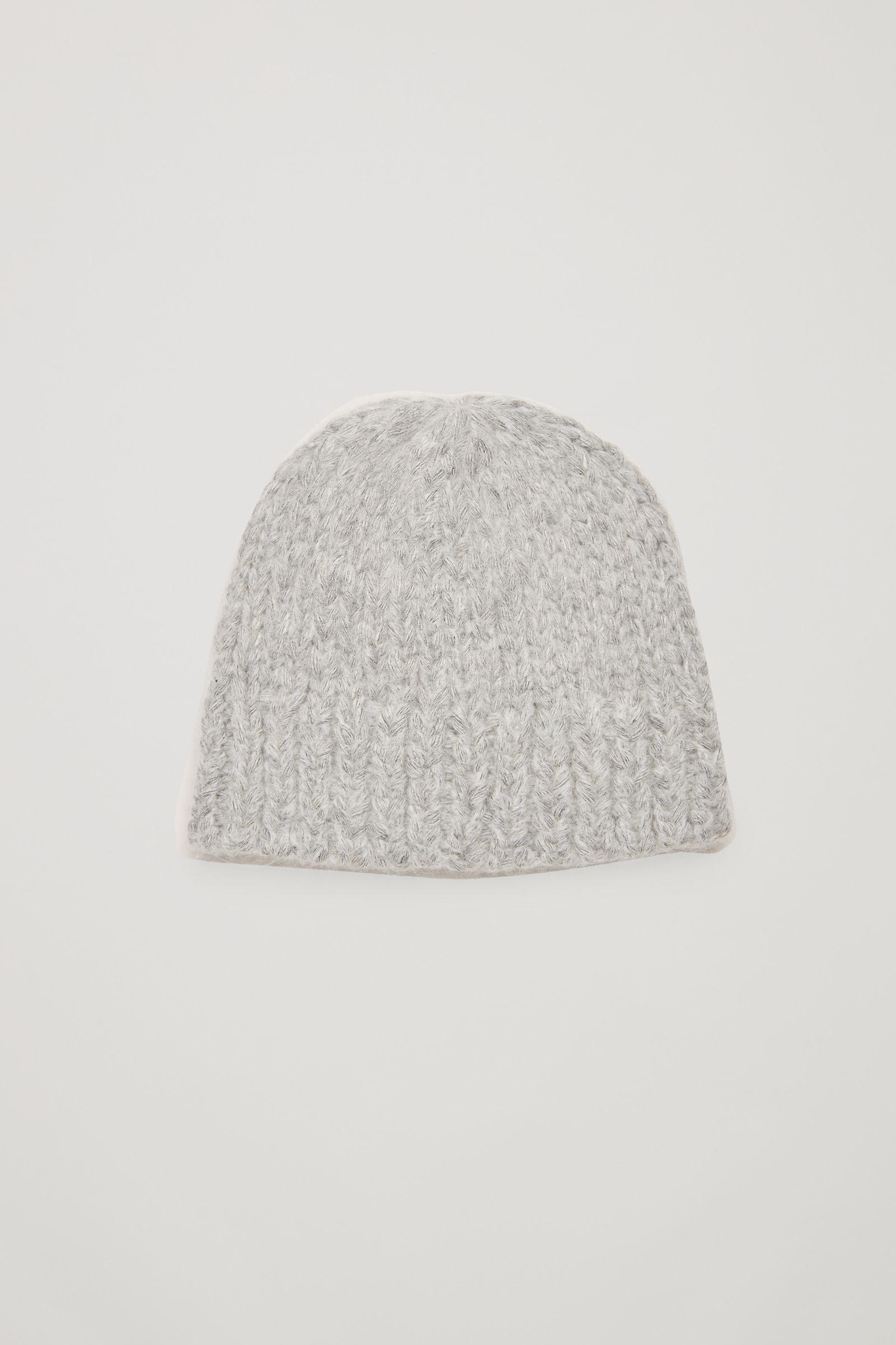 Lyst - COS Alpaca-blend Beanie Hat in Gray 145edf909009