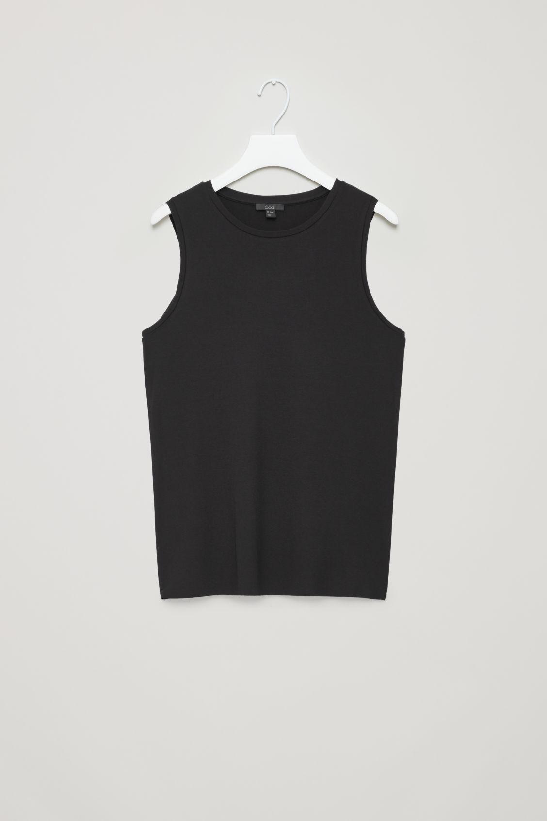 94498d5d88290 Lyst - COS Slim Jersey Vest Top in Black