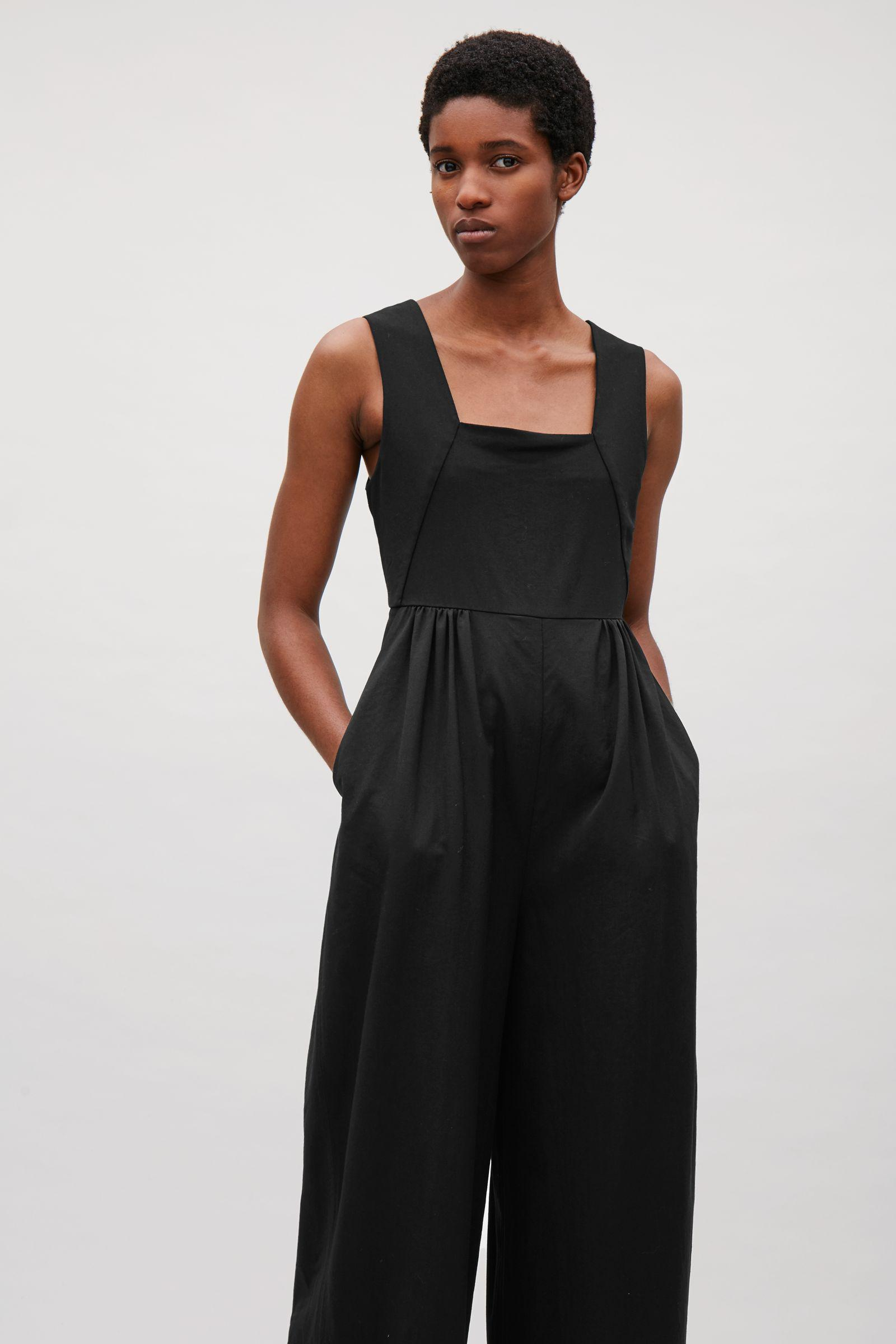 f7e2dfcaf186 Lyst - COS Wool Jumpsuit With Elastic Waist in Black