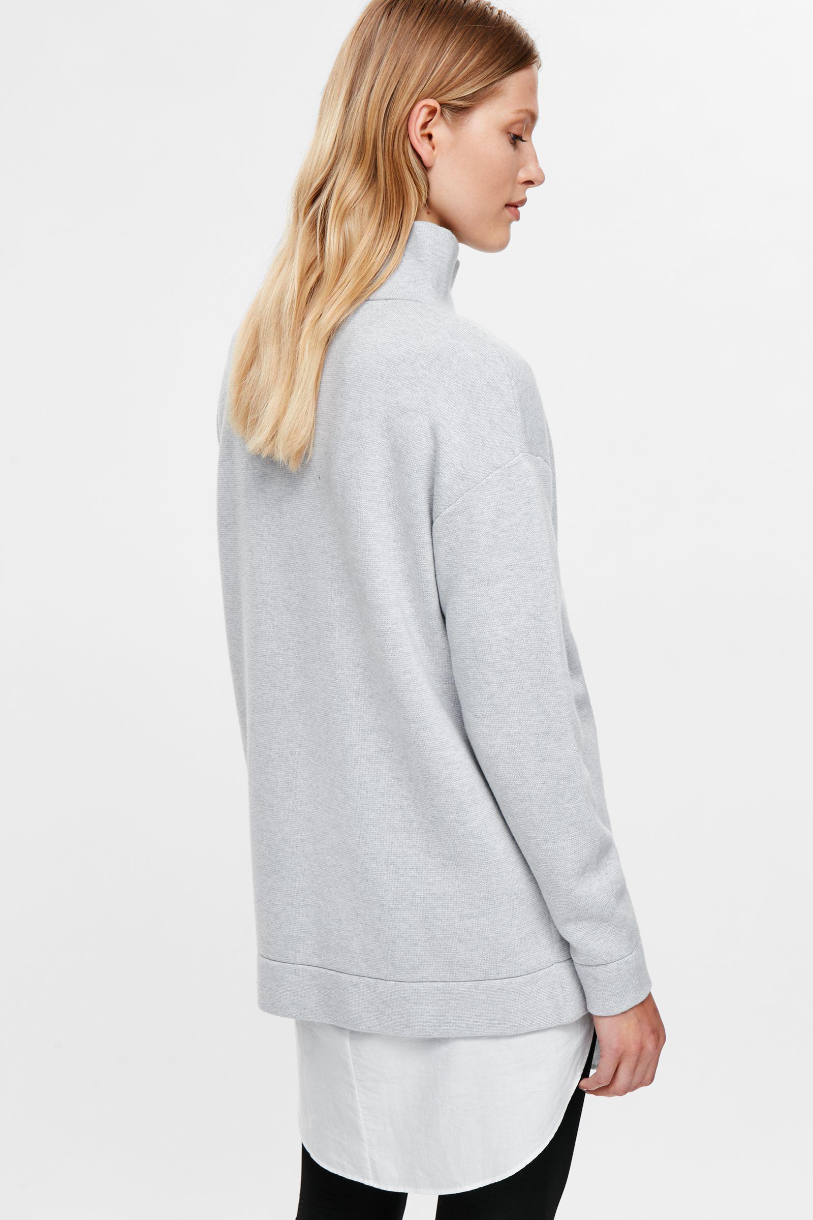 7ef7922fd Lyst - COS Oversized Milano Knit Jumper in Gray