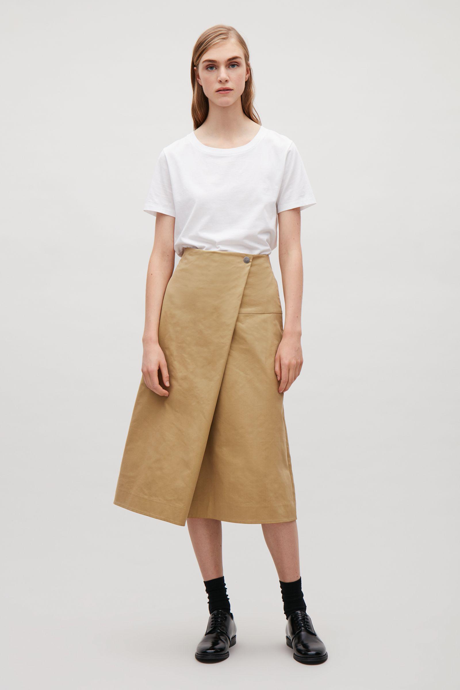 88143631076 Lyst - COS A-line Skirt With Asymmetric Fold
