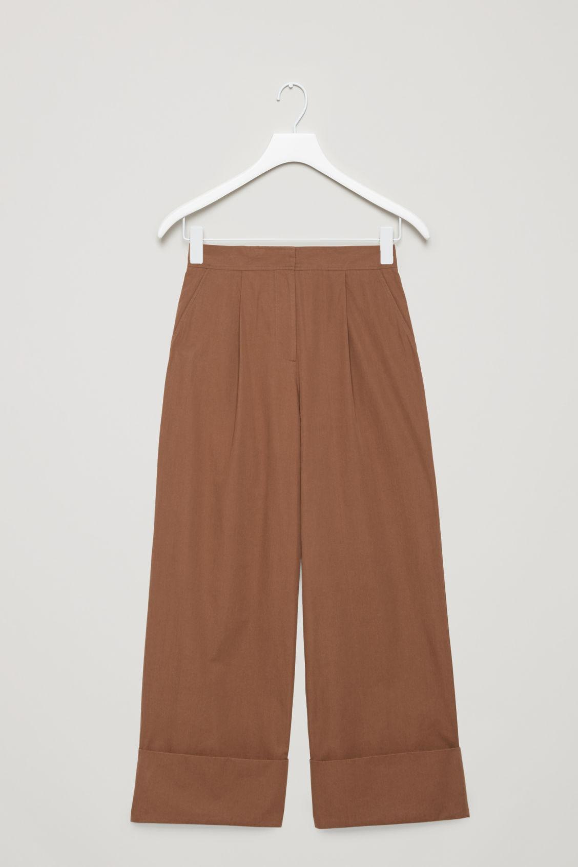 1ec78e034634 Lyst - COS Wide-leg Trousers With Turn Ups in Natural