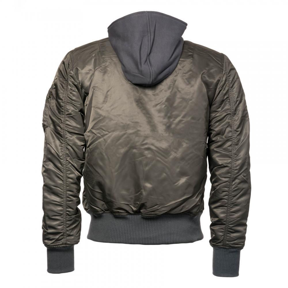 8fc8611e579 Alpha Industries - Gray Mens Ma-1 D-tec Blood Chit Jacket for Men. View  fullscreen