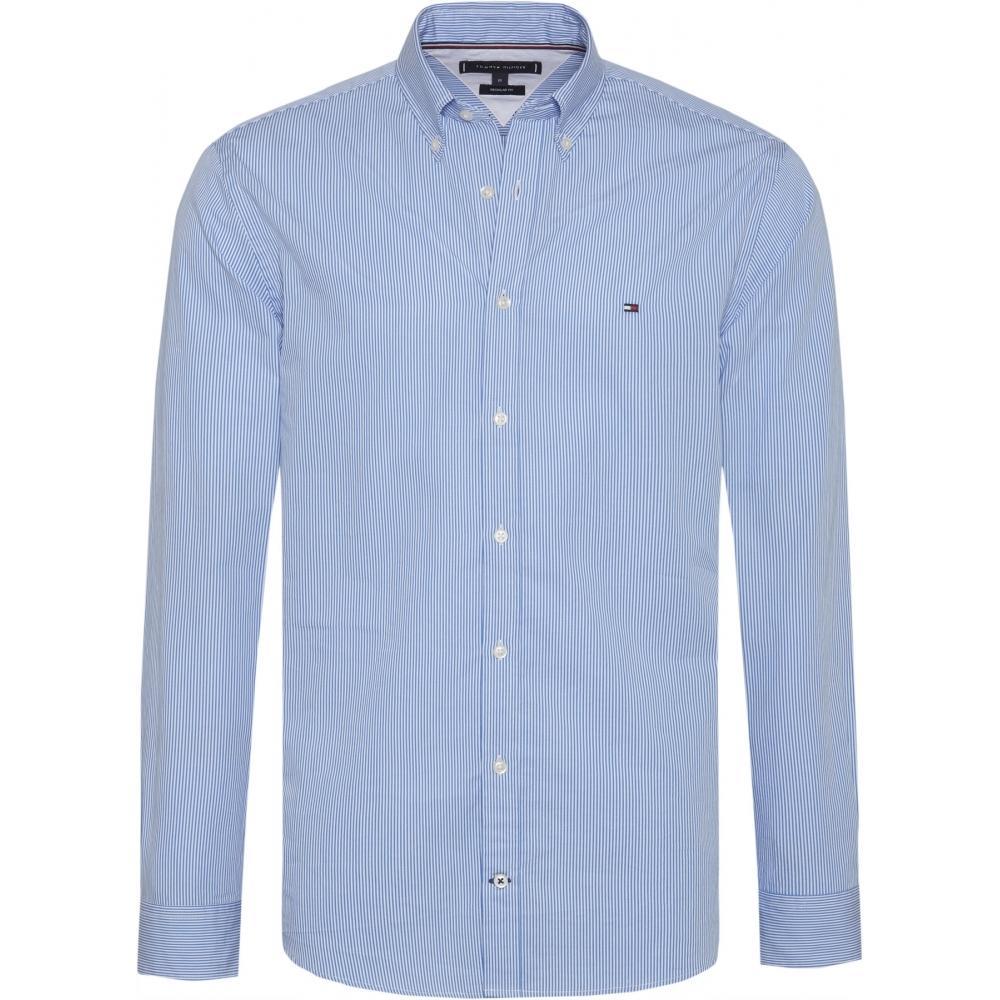 8167df5f Lyst - Tommy Hilfiger Classic Stripe Mens Shirt in Blue for Men